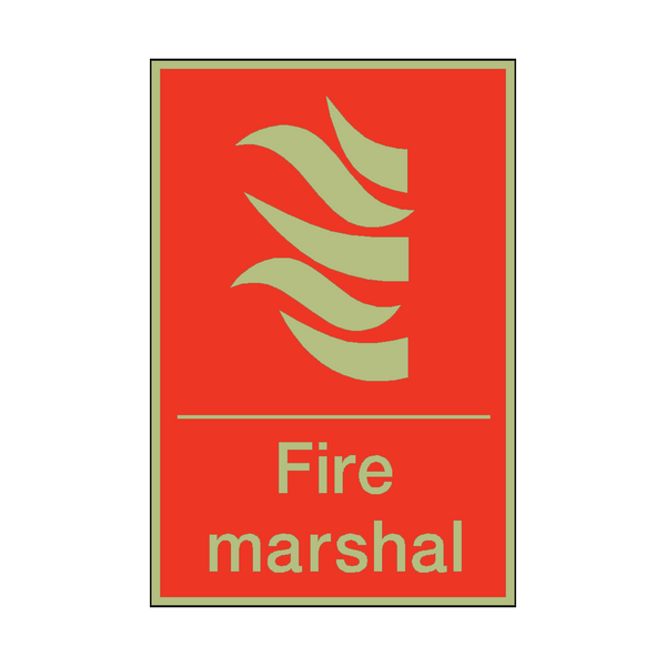 Photoluminescent Fire Marshal Sign - PVC Safety Signs