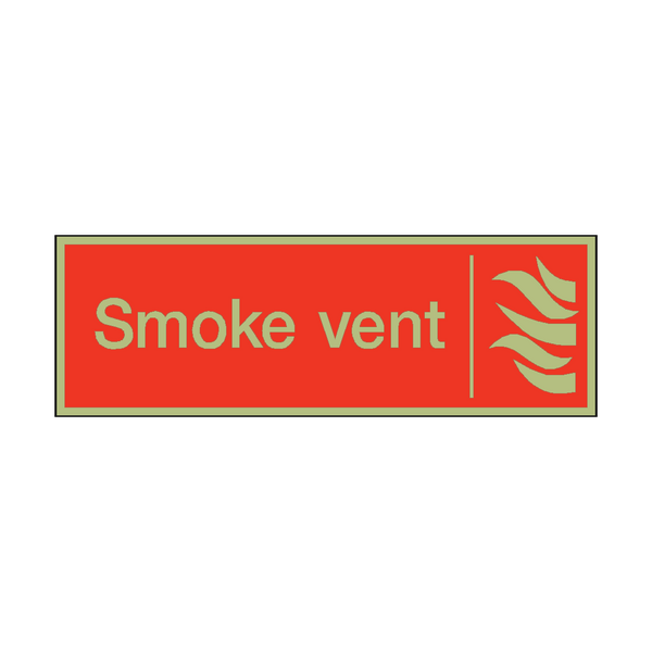Photoluminescent Smoke Vent Safety Sign | PVC Safety Signs