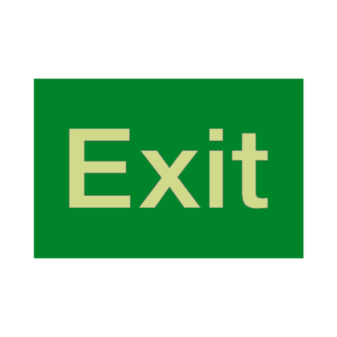 Exit Photoluminescent Sign - PVC Safety Signs