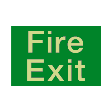 Fire Exit Photoluminescent Sign | PVC Safety Signs