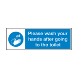 Please Wash Your Hands After Toilet Sign | PVCSafetySigns.co.uk