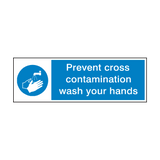 Prevent Cross Contamination | PVCSafetySigns.co.uk