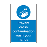 Prevent Cross Contamination Hygiene Sign | PVCSafetySigns.co.uk