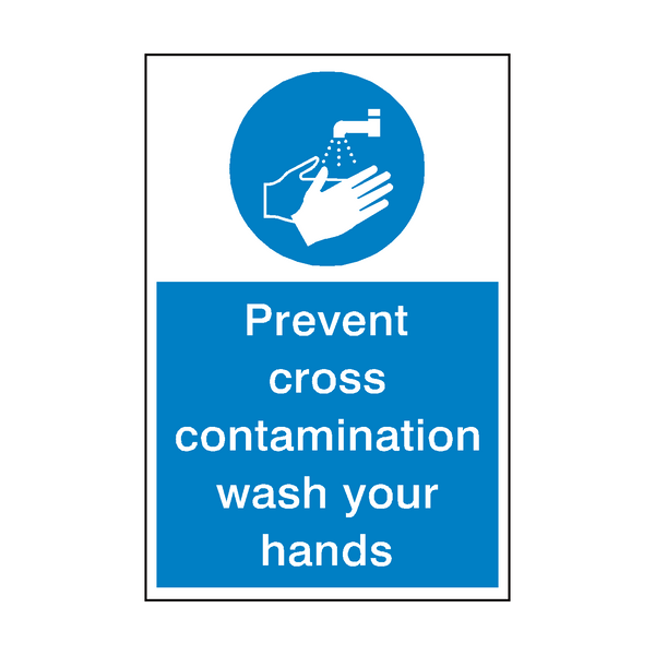 Prevent Cross Contamination Hygiene Sign Pvc Safety Signs
