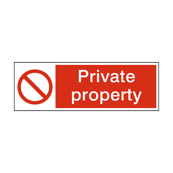 Private Property Safety Sign | PVC Safety Signs