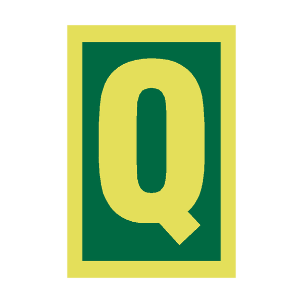 IMO Letter Q Sign Photoluminescent