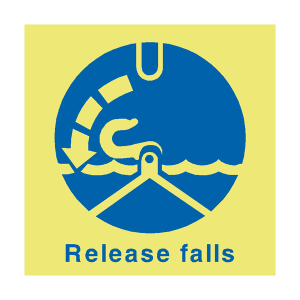 Release Falls IMO Sign | PVC Safety Signs