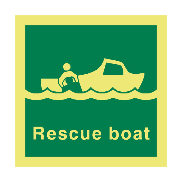 Rescue Boat IMO Safety Sign - PVC Safety Signs