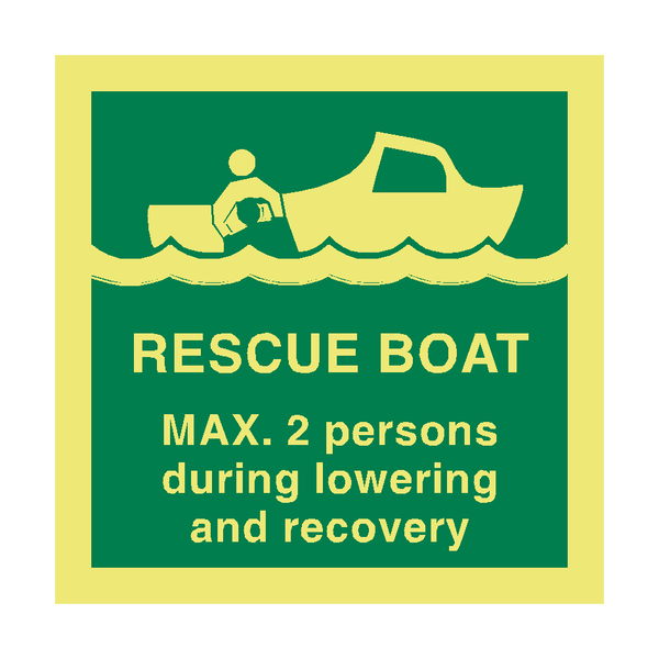 Rescue Boat Info IMO Sign - PVC Safety Signs