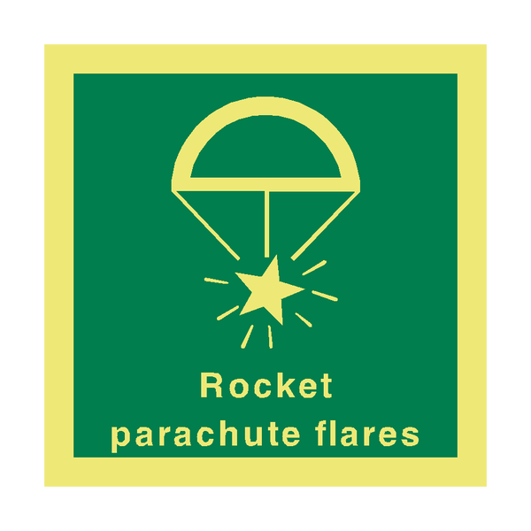 Rocket Parachute Flares Sign | PVC Safety Signs