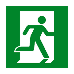 Running Man Right Sign - PVC Safety Signs | Safety Signs Specialists