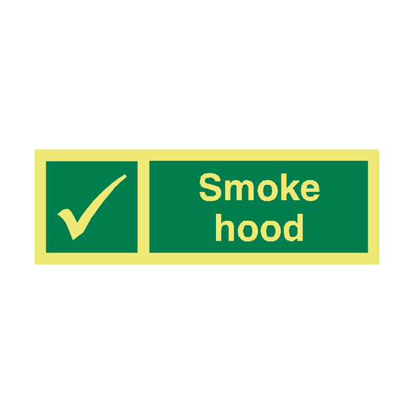 Smoke Hood IMO Safety Sign | PVC Safety Signs