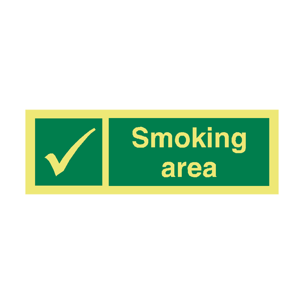 Smoking Area IMO Sign | PVC Safety Signs