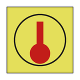SPACE MONITORED HEAT DETECTOR SIGN