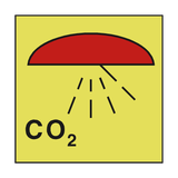 SPACE PROTECTED CO2 IMO SIGN