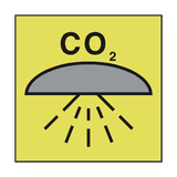 SPACE PROTECTED FIXED CO2 SYSTEM | PVC Safety Signs