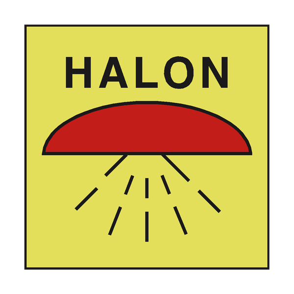 SPACE PROTECTED HALON 1301 SIGN | PVC Safety Signs