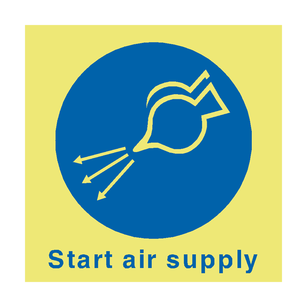 Start Air Supply Safety Sign | PVC Safety Signs