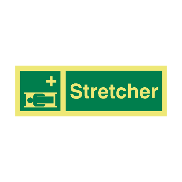 Stretcher Safety Sign | PVC Safety Signs