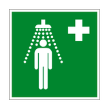 Safety Shower Symbol Sign - PVC Safety Signs