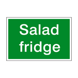 Salad Fridge Sign | PVCSafetySigns.co.uk