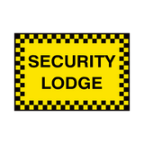 Security Lodge Sign | PVCSafetySigns.co.uk