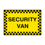 Security Van Sign | PVC Safety Signs