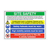 Site Safety Construction Sign | PVCSafetySigns.co.uk