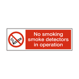 Smoke Detectors In Operation Sign | PVCSafetySigns.co.uk