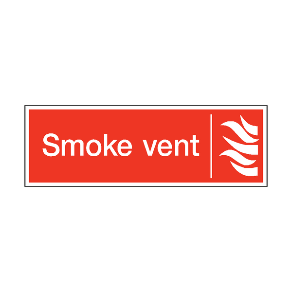 Smoke Vent Safety Sign | PVC Safety Signs