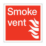 Smoke Vent Square Sign | PVC Safety Signs
