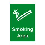 Smoking Area Portrait Sign - PVC Safety Signs