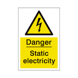 Static Electricity Sign | PVCSafetySigns.co.uk