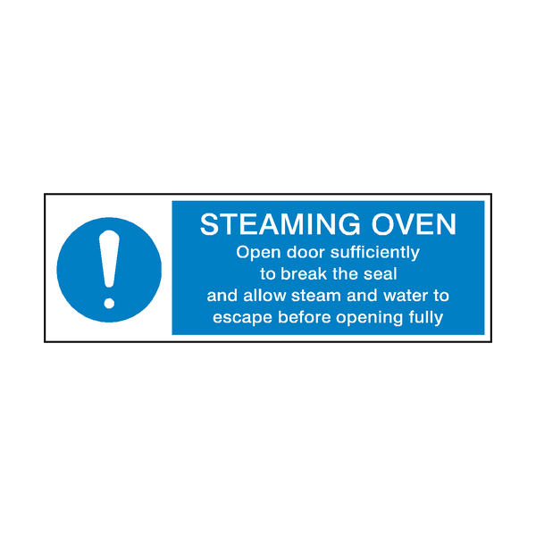 Steaming Oven Mandatory Sign | PVC Safety Signs