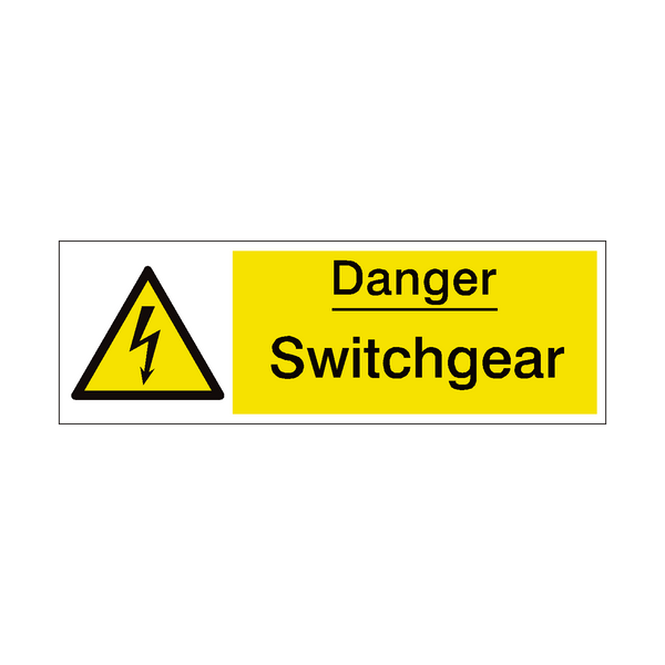 Switchgear Safety Sign | PVC Safety Signs