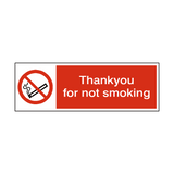 Thank You For Not Smoking Sign | PVC Safety Signs