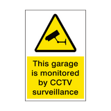 Garage Monitored By CCTV Security Sign | PVCSafetySigns.co.uk