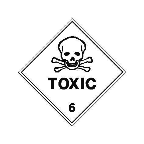 toxic sign pvc safety signs