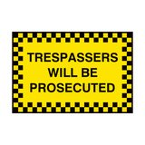 Trespassers Security Sign | PVC Safety Signs