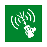 Two Way VHF Symbol Sign