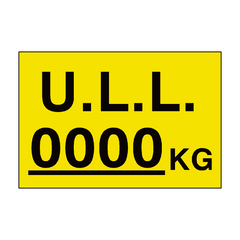 ULL Kg Sign Yellow Custom Weight | PVC Safety Signs | Health and Safety Signs