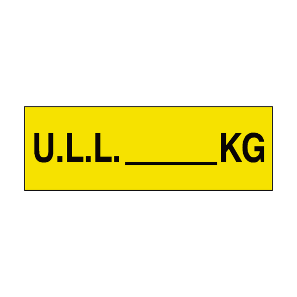 ULL Sign KG Yellow | PVC Safety Signs