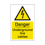 Underground Cables Sign | PVCSafetySigns.co.uk