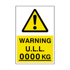 unladen Weight Sign Kg Custom Weight | PVC Safety Signs | Health and Safety Signs