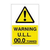 unladen Weight Sign Tonnes Custom Weight | PVC Safety Signs | Health and Safety Signs