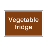 Vegetable Sign - PVC Safety Signs