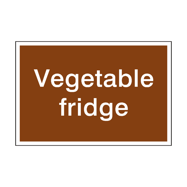 Vegetable Sign | PVC Safety Signs