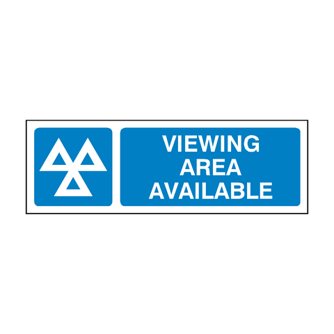 Viewing Area MOT Sign | PVC Safety Signs | Health and Safety Signs