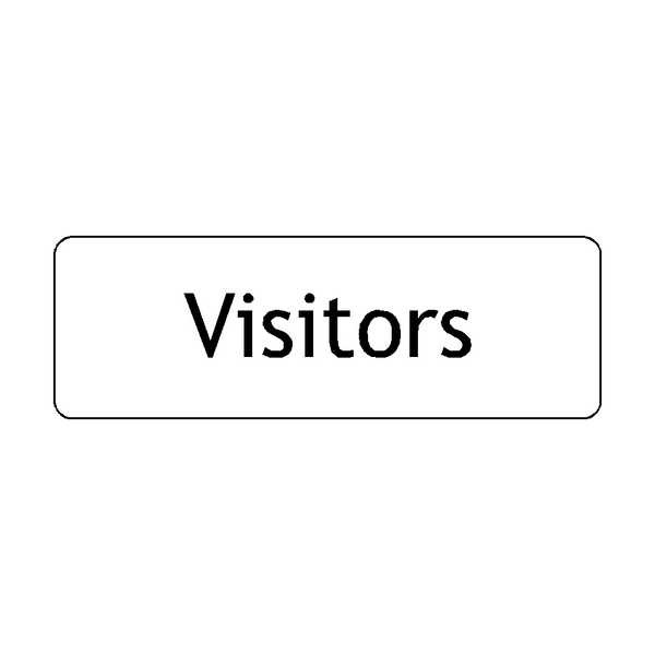 Visitors Door Sign | PVC Safety Signs