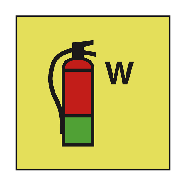 WATER FIRE EXTINGUISHER IMO SAFETY SIGN